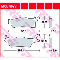Мото накладки TRW MCB862SI