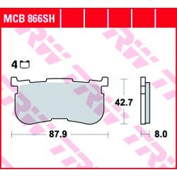 Мото накладки TRW MCB866SH