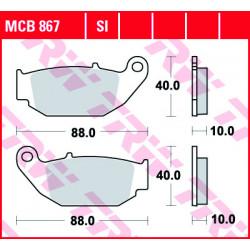 Мото накладки TRW MCB867SI