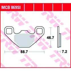 Мото накладки TRW MCB869SI