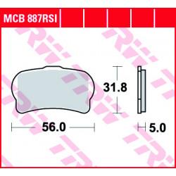 Мото накладки TRW MCB887RSI
