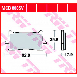 Мото накладки TRW MCB888SV