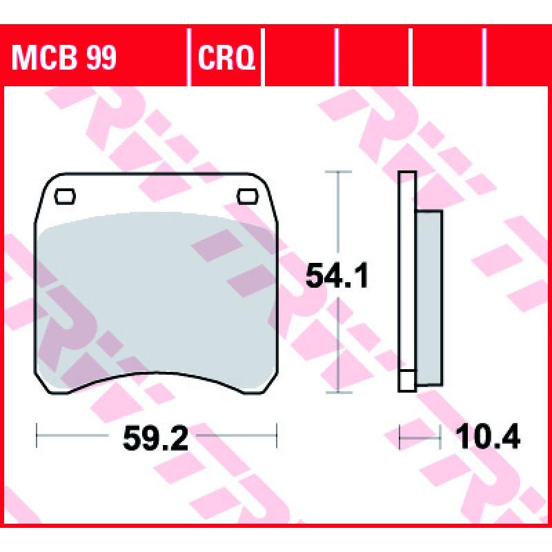 Мото накладки TRW MCB99