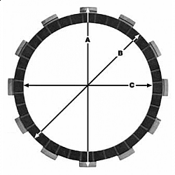 Комплект феродови дискове TRW MCC122-6