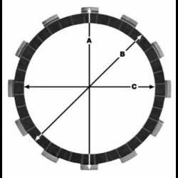 Комплект феродови дискове TRW MCC530-7C
