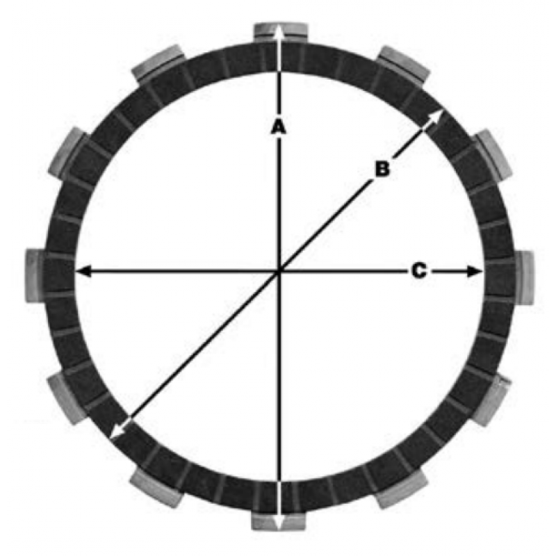 Комплект феродови дискове TRW MCC551-9