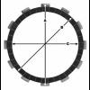 Комплект феродови дискове TRW MCC553-10 thumb