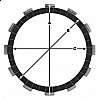 Комплект феродови дискове TRW MCC620-7 thumb