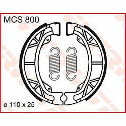 Мото накладки TRW MCS800