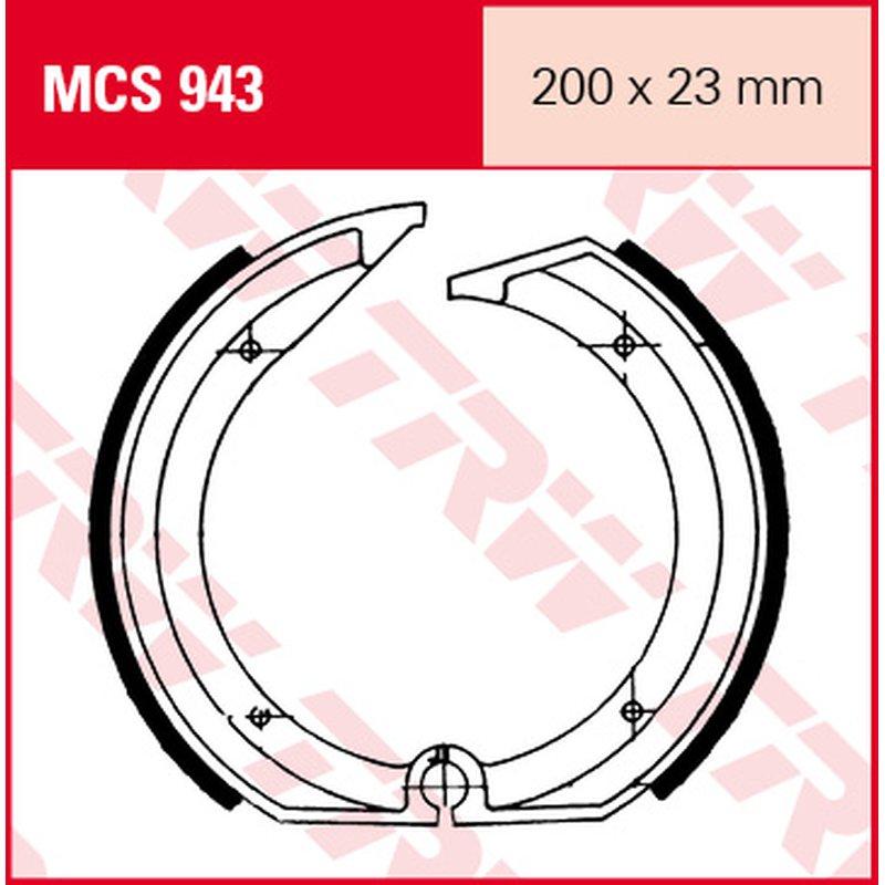 Мото накладки TRW MCS943 thumb
