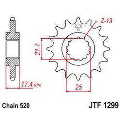 Предно зъбчато колело (пиньон) JTF1299,14