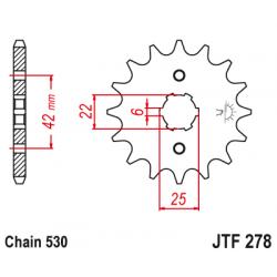 Предно зъбчато колело (пиньон) JTF278,16