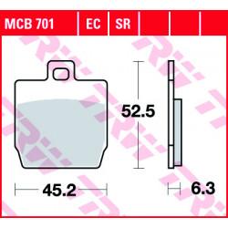 Мото накладки TRW MCB701SR