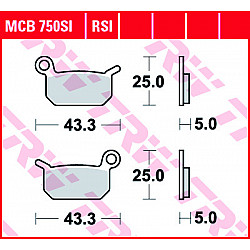 Мото накладки TRW MCB750SI