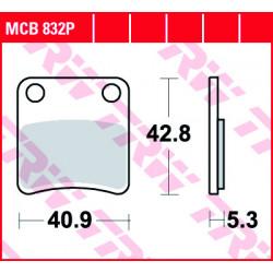Мото накладки TRW MCB832P