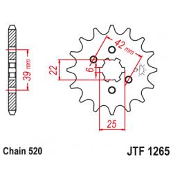 Предно зъбчато колело (пиньон) JTF1265,13