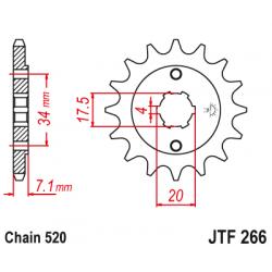 Предно зъбчато колело (пиньон) JTF266,14