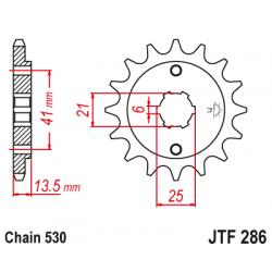 Предно зъбчато колело (пиньон) JTF286,14