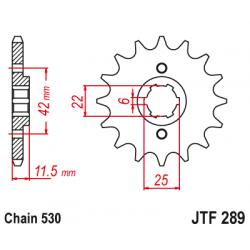 Предно зъбчато колело (пиньон) JTF289,16