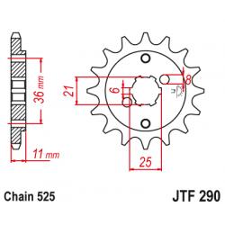 Предно зъбчато колело (пиньон) JTF290,15