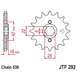 Предно зъбчато колело (пиньон) JTF292,16