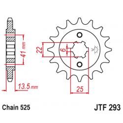Предно зъбчато колело (пиньон) JTF293,15