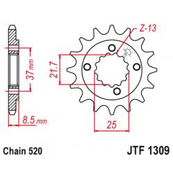 Предно зъбчато колело (пиньон) JTF1309,15