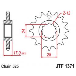 Предно зъбчато колело (пиньон) JTF1371,15