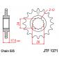 Предно зъбчато колело (пиньон) с успокоител за вибрации JTF1371,15RB