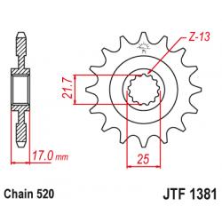 Предно зъбчато колело (пиньон) JTF1381,16