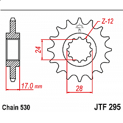 Предно зъбчато колело (пиньон) JTF295,15