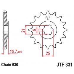 Предно зъбчато колело (пиньон) JTF331,14