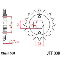 Предно зъбчато колело (пиньон) JTF338,17