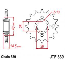 Предно зъбчато колело (пиньон) JTF339,15