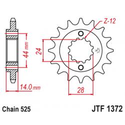 Предно зъбчато колело (пиньон) JTF1372,17