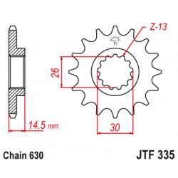 Предно зъбчато колело (пиньон) JTF335,15