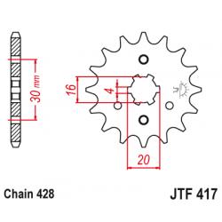 Предно зъбчато колело (пиньон) JTF417,13