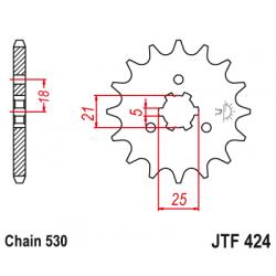Предно зъбчато колело (пиньон) JTF424,16