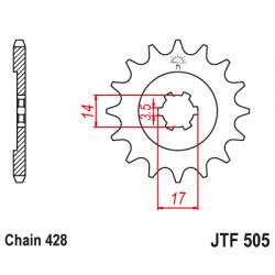 Предно зъбчато колело (пиньон) JTF505,15