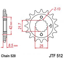 Предно зъбчато колело (пиньон) JTF512,15