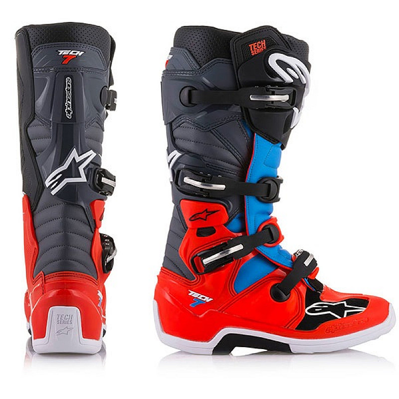 Ботуши ALPINESTARS TECH 7 BLACK/BLUE/RED thumb