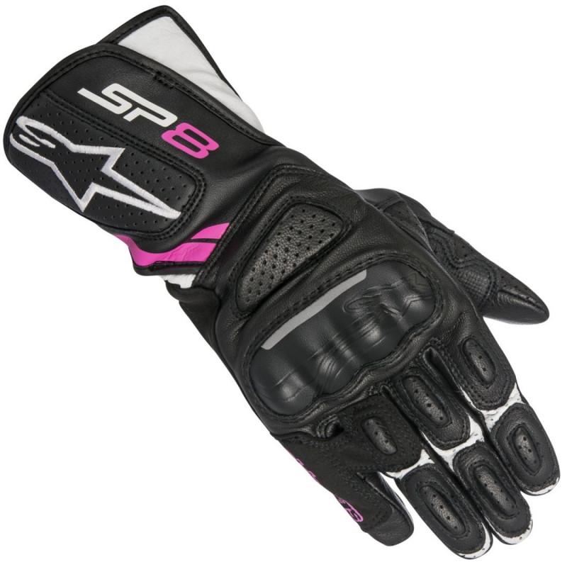 Дамски ръкавици ALPINESTARS STELLA SP-8 V2 BLACK/WHITE/PINK