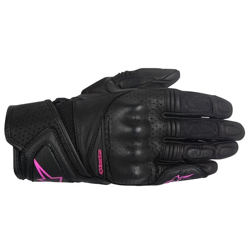Дамски кожени ръкавици ALPINESTARS STELLA BAIKA BLACK/PINK