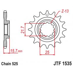 Предно зъбчато колело (пиньон) JTF1535,15