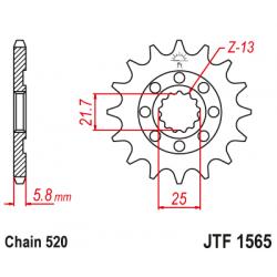 Предно зъбчато колело (пиньон) JTF1565,13