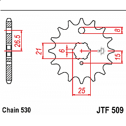 Предно зъбчато колело (пиньон) JTF509,15