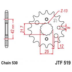 Предно зъбчато колело (пиньон) JTF519,16
