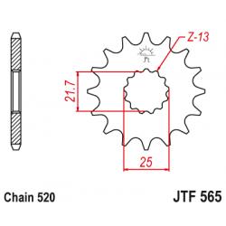 Предно зъбчато колело (пиньон) JTF565,15