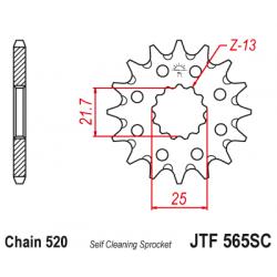 Самопочистващо се предно зъбчато колело (пиньон) JTF56514SC
