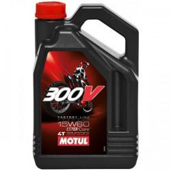 Мотокрос моторно масло MOTUL 300V 4T 15W-60 - 4 Литра